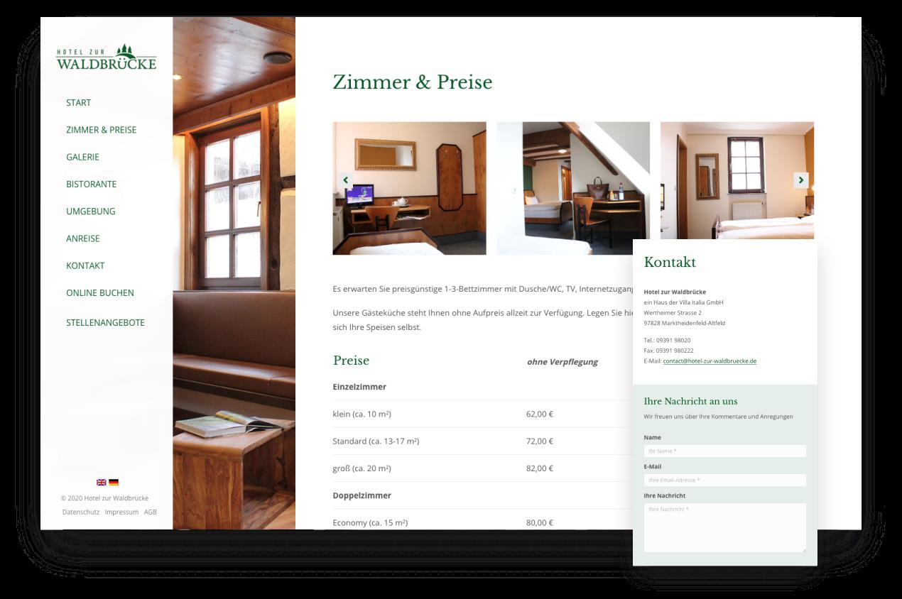 Webdesign Hotel